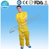 Los mejores guardapolvos amarillos no tejidos de la venta SMS para los trabajadores