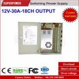 12V 30A 18CH Ausgabe CCTV-Kamera-Schaltungs-Stromversorgung