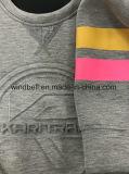 Pullover di goffratura del reticolo di nuovo disegno 2017 per le donne con la stampa di gomma