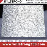 Enduit gravant en relief blanc comme le lait du finissage PVDF de panneau composé en aluminium