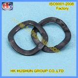 Rondelle à ressort de boucle d'approvisionnement avec le placage de zinc (HS-SW-0004)