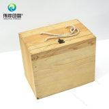 Caso de madera con el metal de bloqueo impresión de la caja de embalaje