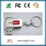 Da prata livre do metal do logotipo do disco da memória movimentação instantânea da pena do USB