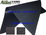 Cloth insérée/néoprène naturelles/butyle/tapis en caoutchouc EPDM avec du tissu impressionné un/Double côté
