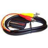 Qualität 21pin Scart zu Kabel 1m 1.5m 2m des Stecker-3RCA 3m