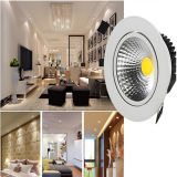 9W 12W 15W 20W 25W Downlight LED 30W Downlight LED regulable empotrado Spot Lámpara de techo AC 85-265 V