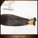 Usine indienne d'extensions de cheveu de kératine de Vierge de la meilleure qualité