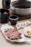 100% melamina cena Ware / melamina cesta de bambú / placa (QQ420)