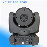 10W 소형 LED 단계 이동하는 맨 위 광속 빛 12PCS LED