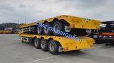 Cimc 2 Chassis 3 van de Vrachtwagen van het Bed van de As 20FT Nieuwe Vlakke As 40 40FT Voet Aanhangwagen van de Container van Flatbed Semi