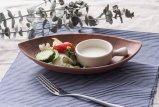De Diepe Matte Plaat van de Vorm van het Blad van de melamine (eindig) /Dinnerware (qqbk13911-10)