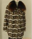Collier de lapin et de Fox Long Style manteau de fourrure (H-02)
