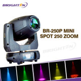 Equipamento de concertos 250W Moving Head LED Spot Zoom Stage Lights