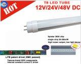 lumière de tube de C.C de 12V 24V 120cm 18W T8 DEL