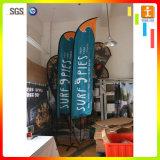 L'alta qualità progetta le bandierine per il cliente della piuma, bandierina di spiaggia telescopica