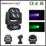 4*60W 최고 LED 매트릭스 단계를 위한 이동하는 맨 위 세척 빛을 빛나십시오