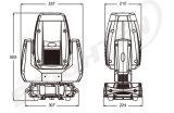 DJ LEDの小型スポットライトの段階移動ヘッドクラブライト250W点のズームレンズ