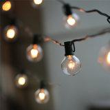 خيط أضواء مع 25 [غ40] كرة أرضيّة بصيلة [أول] يعّدّل لأنّ داخليّة/خارجيّ تجاريّة خارجيّ يعلّب مظلة حديقة فناء مصباح أضواء