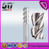 2/3 de moinho de extremidade sem revestimento do carboneto da flauta para o alumínio