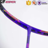 Um 7- Fabricante elasticidade máxima 55t tecidos de fibra de grafite raquetes Badminton personalizada OEM