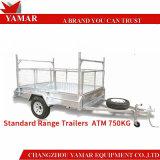 ATM750kg de Aanhangwagen van de Doos van het Nut met Kooi