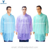 Blanc Bleu Vert Violet Rose Rouge Orange blouse de laboratoire jetables