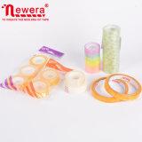 BOPP Plástico adhesivo acrílico colores básicos de una sola cara cinta papelería