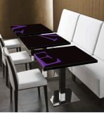 Белой акриловой твердой поверхности ресторан мебель обеденный стол