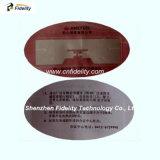 UHF 서류상 스티커 레이블, 0~12meters의 RFID 꼬리표