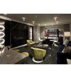 De moderne Duurzame die Slaapkamer van het Meubilair van het Hotel van de Flat met Barkrukken wordt geplaatst (DL 07)