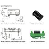 De kleine Convertor van het Veredelingsmiddel van het Signaal van de Sensor van de Grootte 4-20mA Huidige Input-output