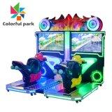 Parc coloré de simulation de 32 pouces de jeu de course arcade conduite Tt moto de course de voitures de la machine pour 2 joueurs