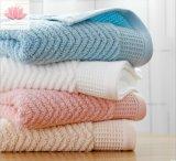 Promoção Listra personalizado de cor sólida Hotel Grau Terry toalhas de algodão