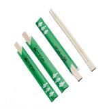 Bacchette di bambù a gettare stampate abitudine in manicotto di carta