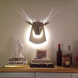 장식적인 사슴 헤드 벽 빛 현대 LED 벽 램프 정착물