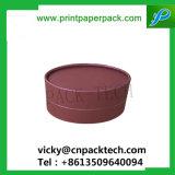 Rígido personalizadas de papel recubierto de pelo SPA Embalaje Aretes Joyas de la Base y tapa de la caja Ronda Caja de jabón Embalaje