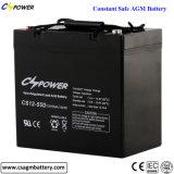 Batería de plomo ácido VRLA 12V 55Ah batería AGM de batería de almacenamiento de UPS