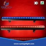 Proiettore esterno dell'indicatore luminoso 24PCS 3W RGB 3in1 LED della rondella della parete di controllo LED del pixel