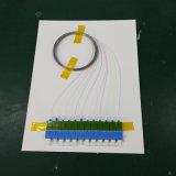 250UM Micro Sc UPC 12 coeurs amorce en fibre optique de dérivation
