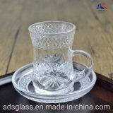 Tazza da tè e Saucer Turchi 60 ml tazza da caffè con incisione trasparente Set