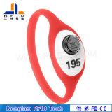 Bracelet imperméable à l'eau de silicones d'IDENTIFICATION RF de courroie de poignet de batterie