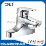 Robinet en laiton de Bath de douche de traitement simple de mélangeur de baignoire de salle de bains de chrome