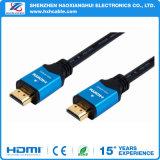 VGA de oro plateado al cable de la computadora de HDMI