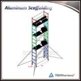 Torre de andamios móvil de la escalera de aluminio