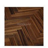Color marrón Ebony Espina de Pez Parquet pisos de madera/ingeniería de suelos de madera