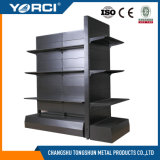 Étagère lourde noire de supermarché en métal