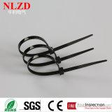 Schwarze Kabelbinder-China-multi Größen-Plastiktorsion-Gleichheit des Nylon-66 selbstsichernde
