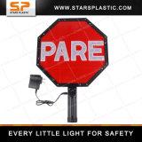 Sinal de aviso da pá com flash LED Siga recarregável com refletor de 3 m