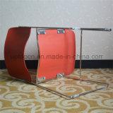 Silla de cena plástica sin brazo del PA con los pies de electrochapado (SP-UC509)