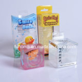 Impressão transparente personalizada PP / PVC / Pet Plastic Packaging Cosmetic Box